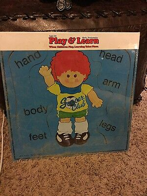 ( 1985 Judy Instructo Rare Body Parts Doll Wooden Puzzle New Factory Sealed)
