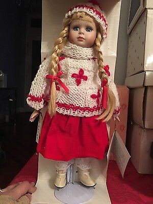 "Seymour Mann Connoisseur collection porcelain doll ""Betsy"""
