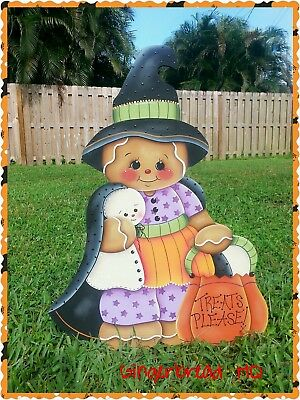 HP Gingerbread Halloween Yard Green Art, outside decorations,  ginger collectors