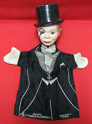 GENUINE Charlie McCarthy hand puppet - made in U.S.A. by IDEAL