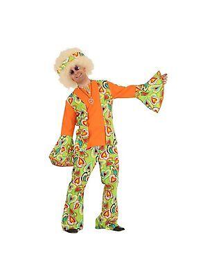 Hippie Mann Gr.48-58 bunt Kostüm Herren Hippiekostüm 70er Anzug 70-er Karneval ()
