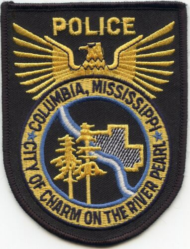 COLUMBIA MISSISSIPPI MS City of Charm On The River Pearl POLICE PATCH