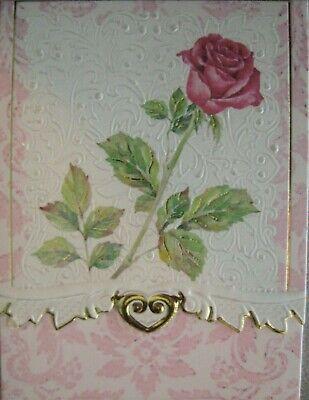 Carol Wilson Fine Arts Purse Embossed Note Pad Rose Roses Magnetic 90 Sheets Carol Wilson Fine Arts