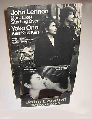 John LENNON Yoko ONO 1980 GEFFEN RECORDS Just Like Standing Over RECORD Standee