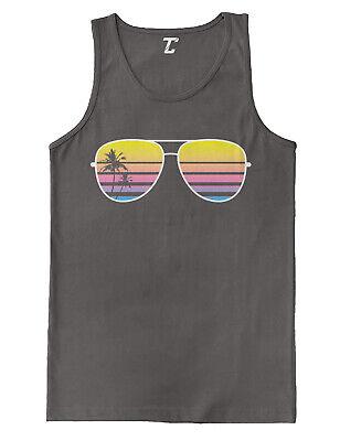 Sunglasses - Palm Tree Sunset Vacation Beach Tank T-Shirt - Palm Tree Sunglasses