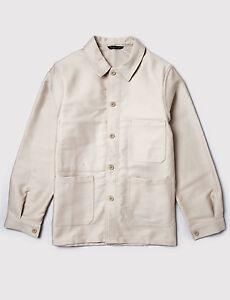 BNWT Le Laboureur `Bleu de Travail` French Work Chore Jacket Ecru Size 1 S/M