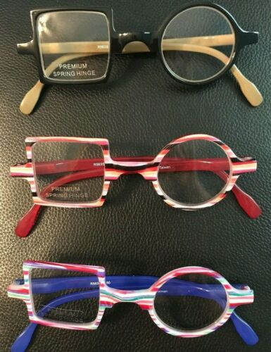Funky Square - Round High Quality Reading Glasses