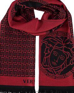 VERSACE scarf - red & black wool - £300 шарф / sciarpa / Schal / écharpe / スカーフ