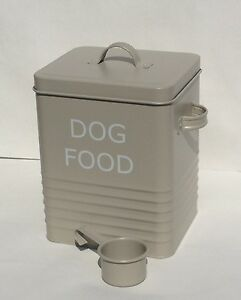 Dog Food Storage Tin Ebay
