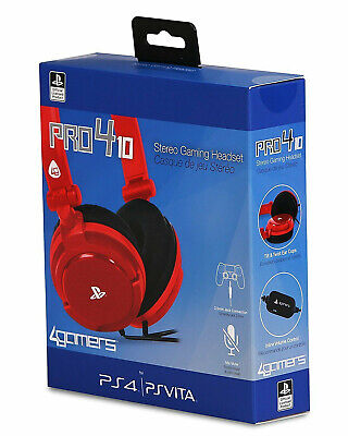 PS4 Gaming Chat Headset with Mic RED Officially Licensed PRO4-10 PlayStation 4