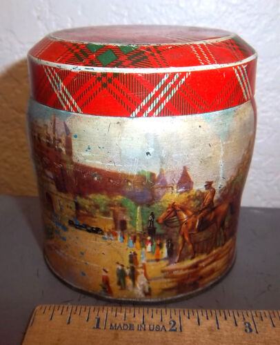 vintage Thornes Toffee tin (empty), Leeds England, great graphics & colors