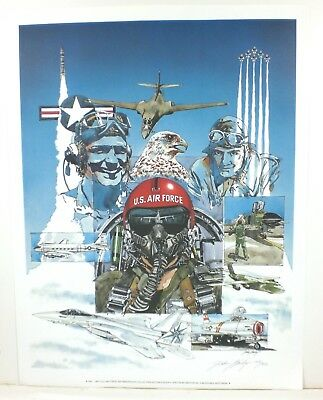 1987 John Bailey U.S. Air Force 40th Anniversary Collectors Poster Signed