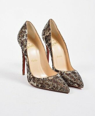 CHRISTIAN LOUBOUTIN So Kate Leopard Crystal Strass Heels