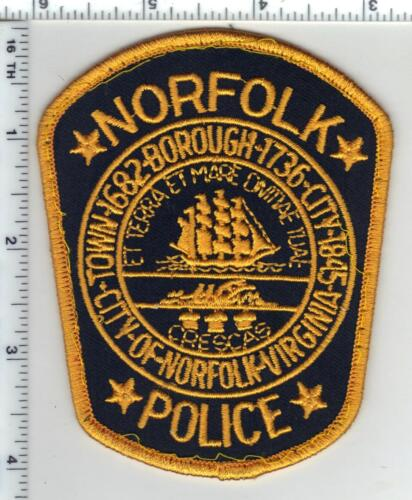 Norfolk Police (Virginia) Uniform Take-Off Shoulder Patch from the 1980