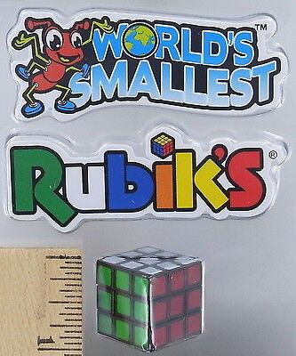 World's Smallest RUBIK'S CUBE Puzzle 3D Toy Miniature Doll Retro 80's Mini Rubik