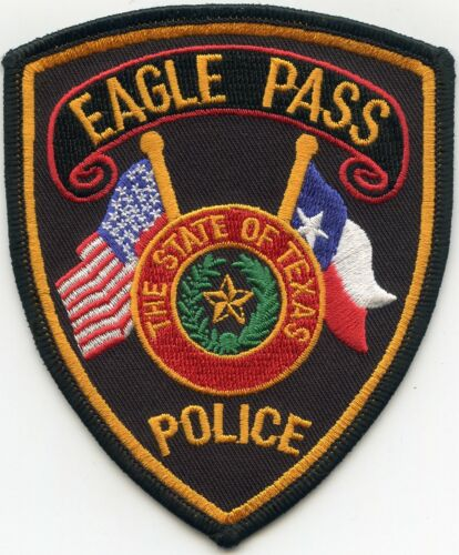 EAGLE PASS TEXAS TX State Flag POLICE PATCH