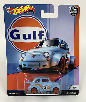 Hot Wheels Premium ~ Car Culture GULF Series ~ '60s FIAT 500D MODIFICADO