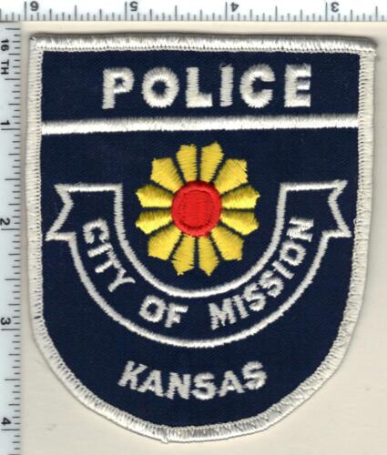 City of Mission Police (Kansas) uniform take-off patch from the 1980