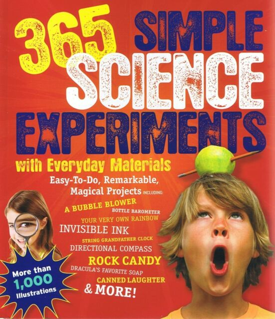365 SIMPLE SCIENCE EXPERIMENTS With Everyday Materials FREE EXPRESS POST