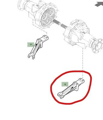 John Deere Su30201 Right Hand Bracket For Stabilizer Bar On 3 Point Hitch