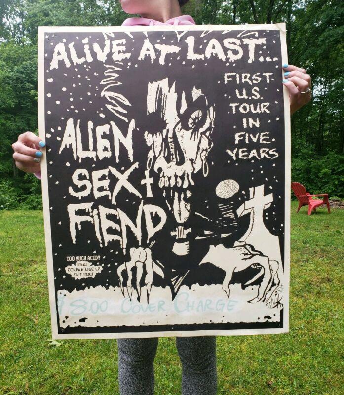 Alien Sex Fiend band Poster Alive At Last Concert Rare