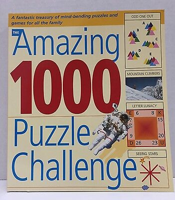 The Amazing 1000 Puzzle Challenge Mazes Word & Number Puzzles (NEW)