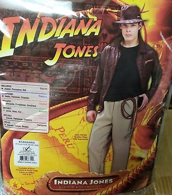 Deluxe Indiana Jones Costume Adult Std Mens Adventurer Archeologist Halloween  (Archeologist Costume)