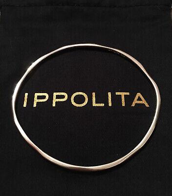 IPPOLITA 925 Sterling Silver Squiggle Wavy Hammered Thin Bangle Bracelet $250