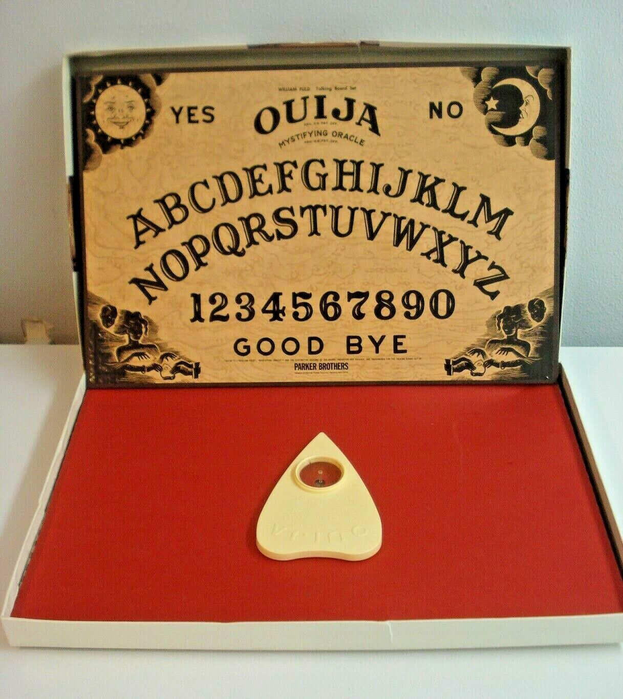 Vintage 1992 Parker Brothers OUIJA BOARD GAME W/BOX Mystifying Oracle-GREAT COND - $10.00