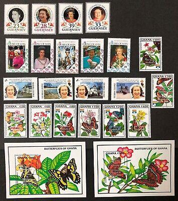 Ghana, Guernsey, Isle of Man & Sierra Leone 1992 QE II 40th Anniv. of Coronation I