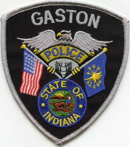 GASTON INDIANA IN POLICE PATCH