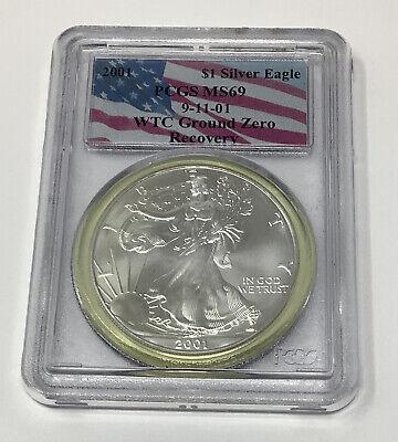 WTC 2001 $1 American Silver Eagle PCGS MS69 Ground Zero Recovery