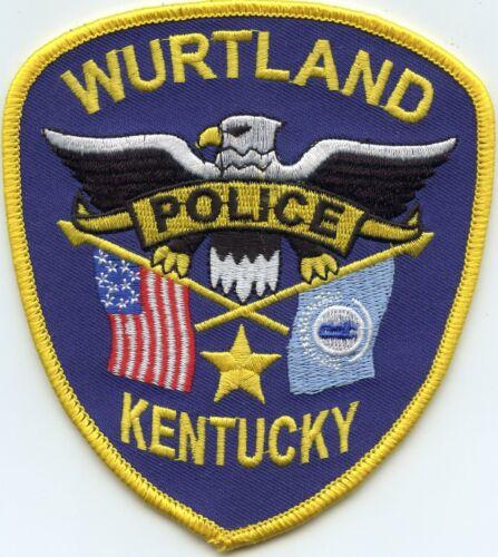 WURTLAND KENTUCKY KY POLICE PATCH