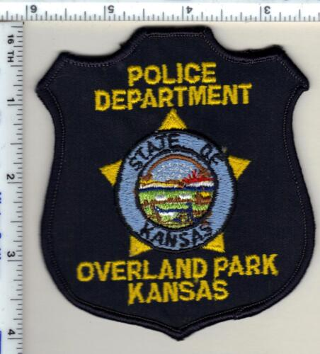 Overland Park Police (Kansas) uniform take-off patch from 1990