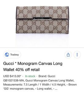 7bb3c835c10 Authentic Gucci wallet