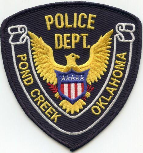 POND CREEK OKLAHOMA OK POLICE PATCH