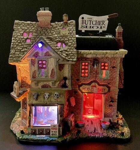 LEMAX Spooky Town 🪓 THE BUTCHER SHOP 👻 2008 Halloween Sights & Sound 85663 NIB