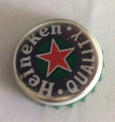 Heineken beer bottle cap pin badge, new