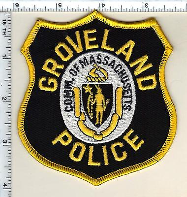 Groveland Police (Massachusetts) Shoulder Patch - new from 1990