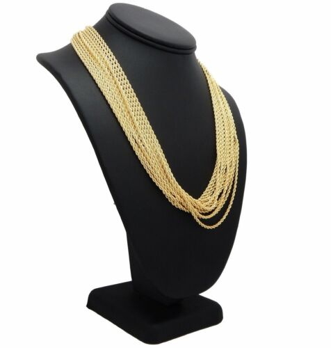 """2mm Rope Chain Necklace 22"""" inch 14K Gold Plated 12 Piece Wholesale Lots"""