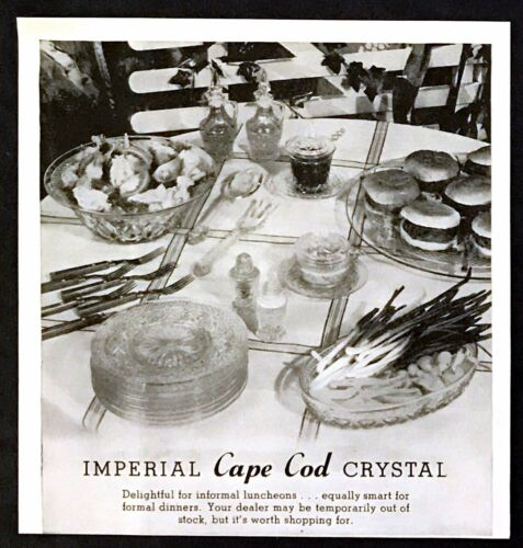 1952 Imperial Cape Cod Crystal Serving Place Settings photo vintage print ad