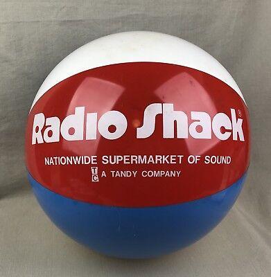 Supermarket o Sound Inflatable Beach Ball Vintage Radio Shack Tandy Promotional