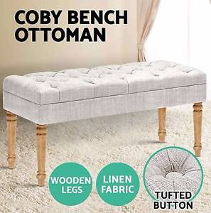 COBY Blanket Chair Ottoman Linen Fabric Dressing Bench Storage Adelaide CBD Adelaide City Preview