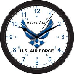 United States Air force Above all Decorative Office Shop Black Wall Clock USA