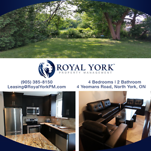 4 BED/2 BATH UPGRADED HOME FOR RENT @ NORTH YORK   DOWNSVIEW