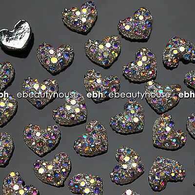 10 Pcs Alloy Jewelry 3D DIY AB Rhinestone Nail Art Glitters Slices #EJ-114 for sale  Shipping to Canada