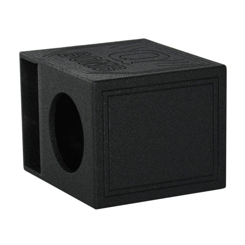 "QPower QBomb QBOMB12HP Single 12"" Vented Port Subwoofer Box w/ Bedliner Spray"