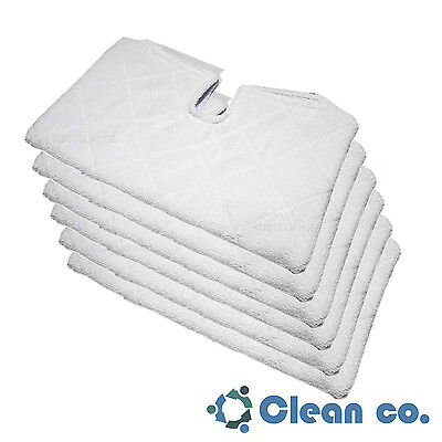 (6 Clean Co. Steam Mop Pads for Shark Steam Pocket Mop Microfiber Pad Replacement)