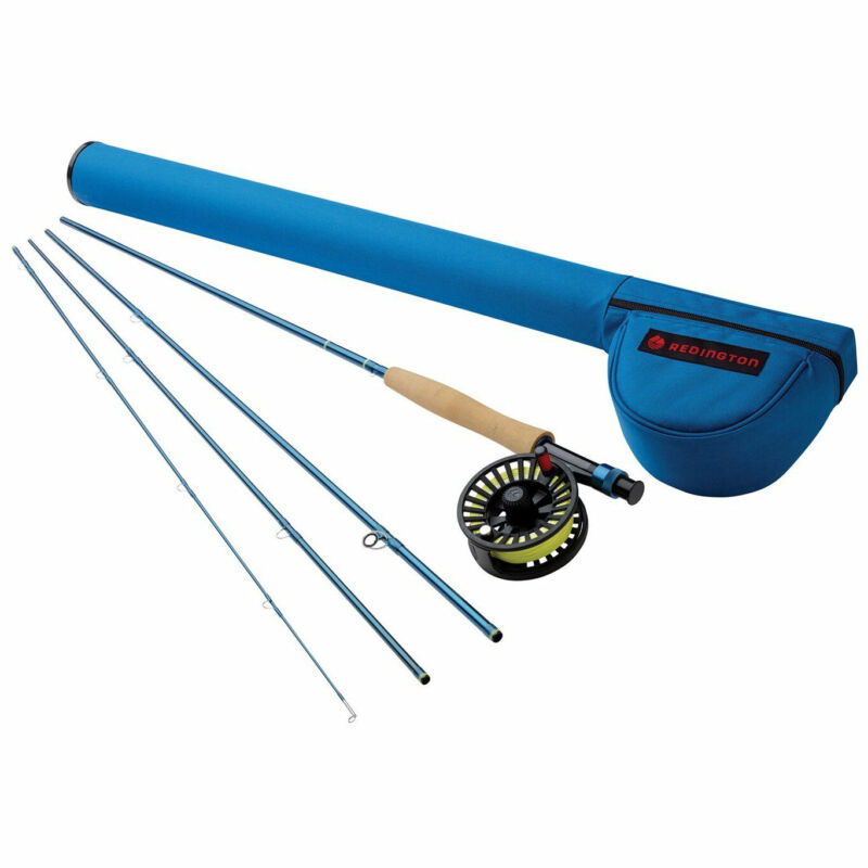 Redington 586-4 CROSSWATER 5 WT 8.5 Foot 4 Piece Fly Fishing Rod and Reel Combo