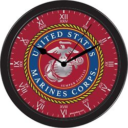 United States Marines USMC Decorative Office Shop Black Wall Clock USA Semper-Fi